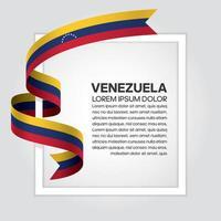 fita bandeira onda abstrata venezuela vetor