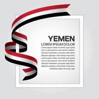 fita da bandeira da onda abstrata do Iêmen vetor