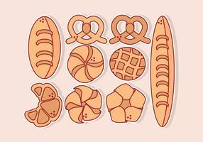 Vector variedade de pães