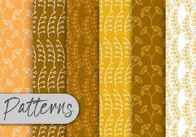 Conjunto de padrões de flora laranja vetor