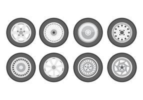 pneu livre com hubcap vector