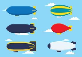 Tipos de balão de ar quente vetor