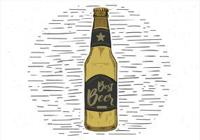 Vector mão desenhada livre Melhor ilustração da cerveja