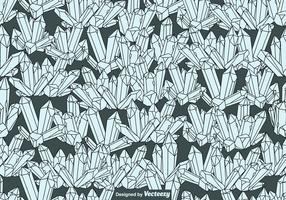 Vector Padrão de cristais de quartzo sem costura