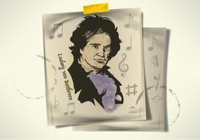 Livre mão desenhada Beethoven vetores