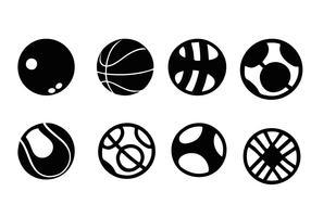 vetor de ícones de bola de esportes grátis