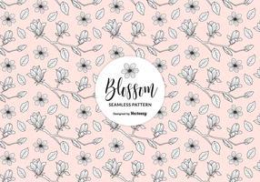 Mão Drawn Blossom Maçã Árvore Ramos Sem emenda Padrão vetor