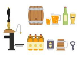 Vetores de cerveja planos