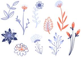 Livre vetores de flores delicadas