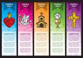 Banners do Sagrado Coração vetor