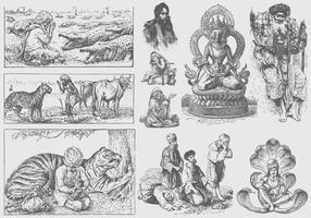 Ilustrações do Guru vetor