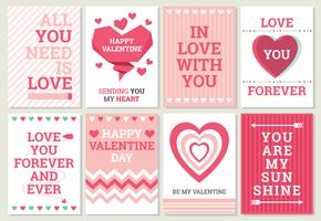 Cartões do Valentim vetor