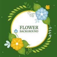 Design de cartão de saudação do vetor da primavera