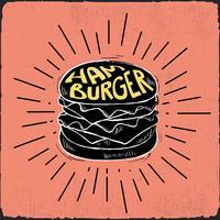 Desenho desenhado à mão Ilustração de fast food vetor