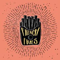 Desenho desenhado à mão Ilustração de fast food