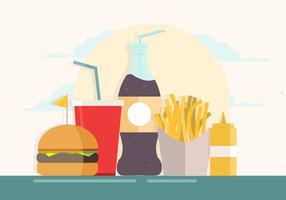 ilustração vetorial fast food vetor