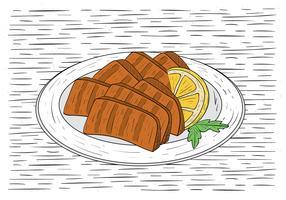 Ilustração desenhada mão da ilustração do vetor