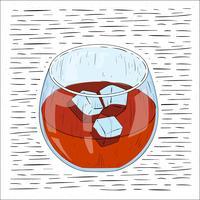 Ilustração desenhada mão da bebida do vetor