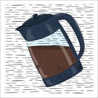 Ilustração desenhada mão do café do vetor