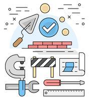 Elementos de construção linear vetor