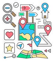 Ícones de navegação linear gratuitos