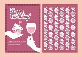 Cartão de Desejos de Aniversário Vector
