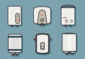 Pacote do vetor aquecedor de água
