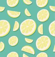 padrão sem emenda de rodelas de limão vetor