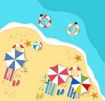 vista de cima de um feriado de verão na praia