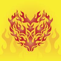 Coração por Flame Vector