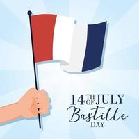 comemoração do dia da bastilha com bandeira francesa
