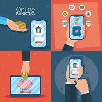 tecnologia de banco online com dispositivos eletrônicos