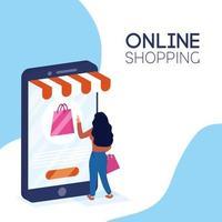 banner de compras online e e-commerce