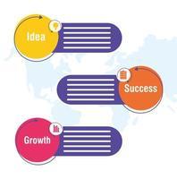 banner infográfico de negócios e corporativos
