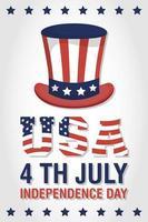 banner de celebração do dia da independência dos eua