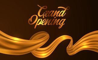 fita de seda dourada para cerimônia de inauguração