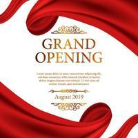 moldura de fita de seda vermelha para cerimônia de inauguração