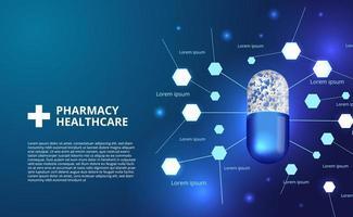 3d farmácia pílulas cápsula medicina saúde