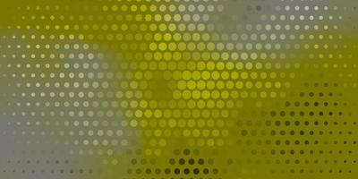 layout verde com formas de círculo.