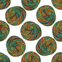 bolas de fio padrão vetor
