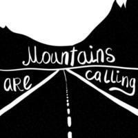 montanhas estão chamando vetor