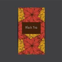 embalagem de chá desenhada à mão