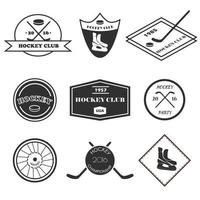 conjunto de logotipo de hóquei.