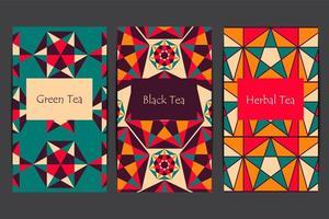 padrões árabes para pacote de chá