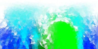 azul claro, padrão de mosaico de triângulo verde.