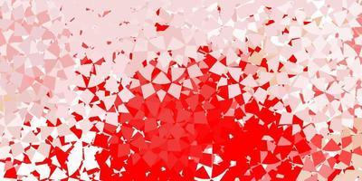 layout vermelho com linhas, triângulos.
