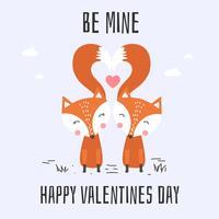 Seja o meu cartão de Valentine Card Vector