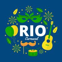 Ilustração vetorial Rio Carnaval grátis vetor