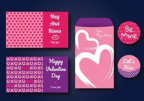 Design de vetores de cartões de namorados