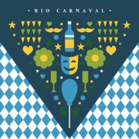 Conceito de triangulo de rio carnaval vetor